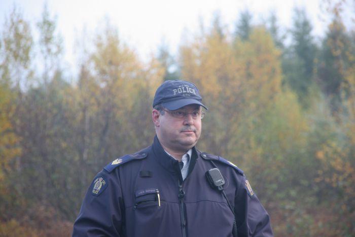 Sergeant Bernard, tactical boss of the October 17th raid. [Photo: Miles Howe]