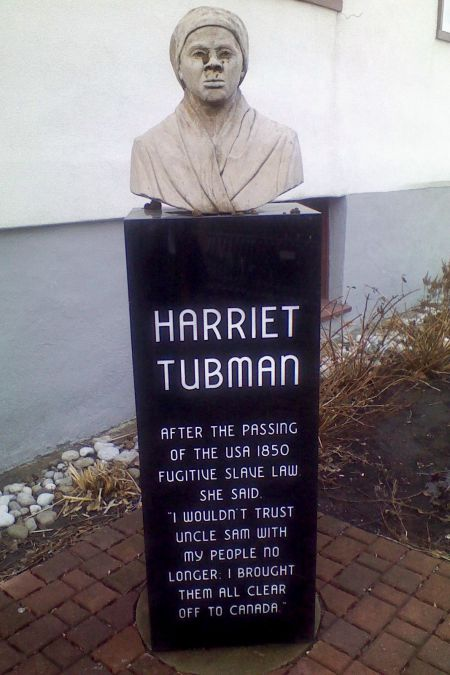 Harriet Tubman Memorial Bust desecration image 1