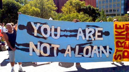 Striking debt in San Francisco.  A Debtors Assembly will be held in Halifax on June 3rd. Photo Occupy.com