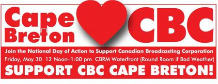 A rally in support of CBC Cape Breton will be held this Friday to tell the Harper Government and CBC management that the community can not tolerate further job cuts.