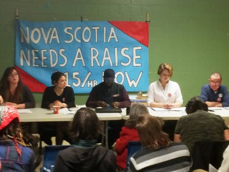 A panel and a town hall kicked off the Nova Scotia Needs a Raise Campaign. Photo Tony Trace / Facebook