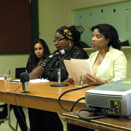 "Panelists El Jones, Lynn Jones, and Ingrid Waldron. ""It's really happening right here, too.""  Photo: Alex Khasnabish"