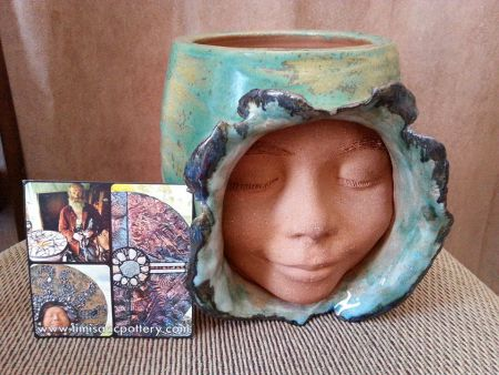 Pottery work done by a talented Artist Tim Isaac and donated for Sunday's silent auction. Photo Facebook
