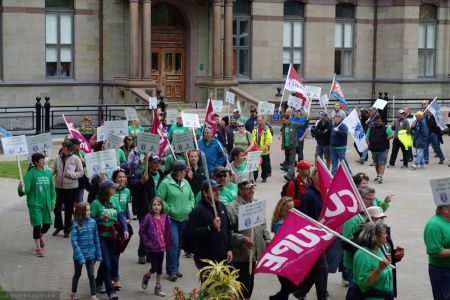 After a month-long lockout and on the heels of a large rally at City Hall negotiations between CUPE and Halifax Water management will resume maybe as early as tomorrow. Photo Trevor Beckerson