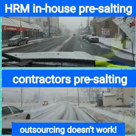 A new facebook site is dedicated to monitoring snow removal contractors' failures. Given that we're locked in to multi-year contracts, is this the best we can hope for? [Photo: via facebook]