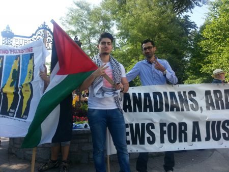 SAIADAL was joined by other groups in protest of Israel's recent violence against innocent Palestinians, in collective retribution for the high-profile murder of 3 Israeli youths.