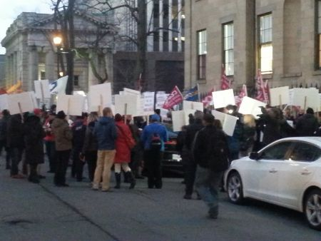 Another labour rally at the Legislature. This time Bill 148 is the target. Photo Robert Devet