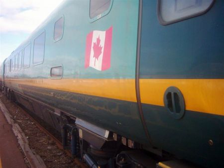 A Montreal-Halifax Ocean line Via Rail train (photo by abdallahh, Flickr).