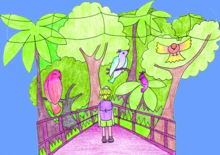 Joanne goes into the park trail and discovers Suzie © Lindsay Alchorn
