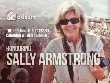 Adsum House honours journalist Sally Armstrong at their 25th annual Successful Canadian Women's Dinner on Thursday.