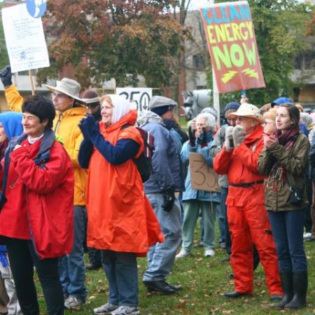 Over 400 Haligonians braved cold wet conditions to demand action on climate change. photo: Jen McRuer