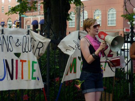 Rebecca Rose Speaks at the first Halifax Dyke March.