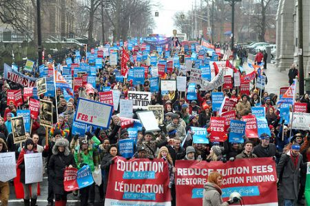 National Student Day of Action, Halifax (photo by Dan Corbett).