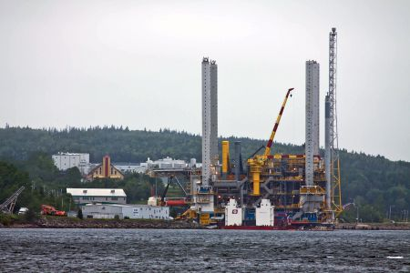 Pictured is the Deep Panuke MOPU (Mobile Offshore Production Unit) at Mulgrave, Strait of Canso - July 13 2011 [Photo: celticpixl via flickr]