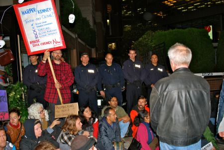 Dick Cheney's Vancouver Visit Galvanizes Spirited Protest
