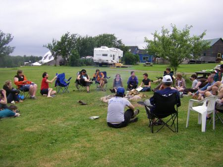 Participants of Camp Out in Pictou County, Nova Scotia, shared stories of LGBTQ activism in the Maritimes.  Photo: Sonia Edworthy