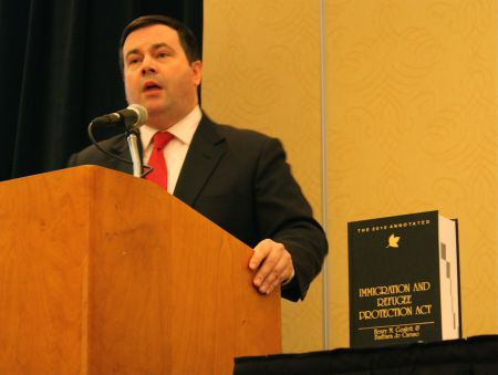 Jason Kenney speaks at the National Citizenship and Immigration Law Conference.