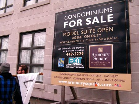 Condos for sale on Cunard.  Photo: Felix Kannemann