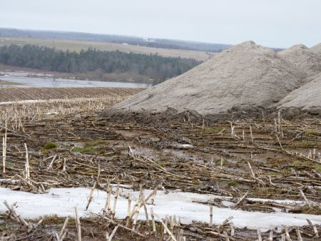 Dumping N-Viro Soil on snow and saturated land is not just a bad idea. It is against the law.