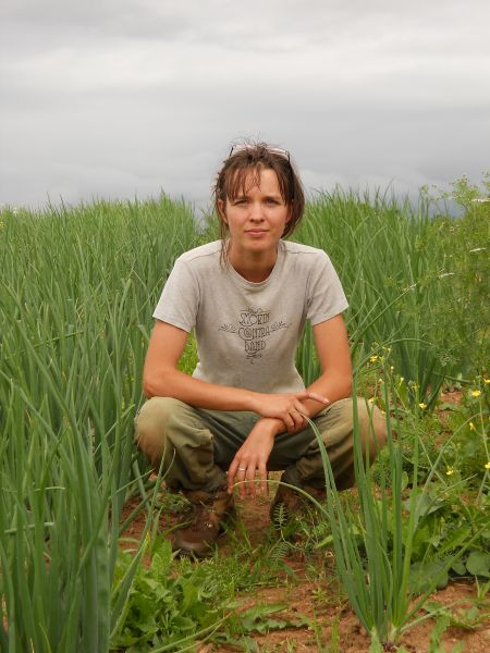 Amy Lounder, who spoke at the ACORN conference, is a musician and a civil servant in addition to being a farmer.  Photo: Steven Wendland