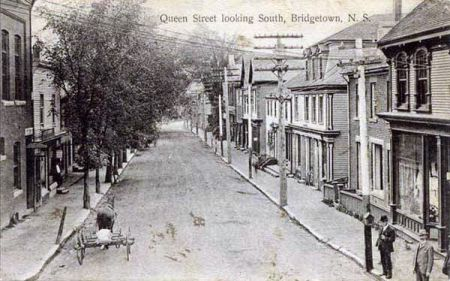 Bridgetown in the Annapolis Valley c. 1910. Lots of businesses in those days..