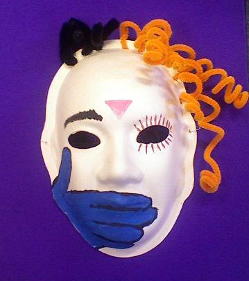 Mask created by an abuse survivor. For more, see http://www.thans.ca/Content/Mask%20Project.