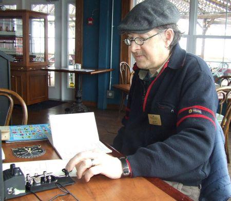 Derek Harrison, Maritime Museum demonstrates Morse Code