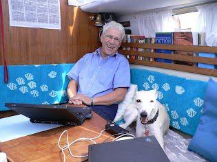 Silver Donald Cameron plus Dog. Photo: Silver Donald Cameron