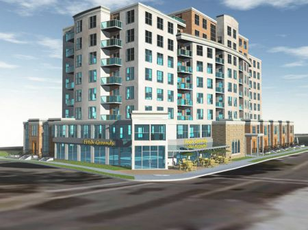 Artist rendering of the St. Joseph's Square condominium development (DowntownHalifaxCondos.com).