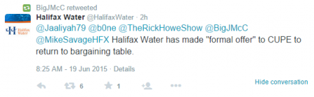 Back to the table, tweets Halifax Water