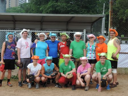 East Coast Rainbow Softball Association players pose for a picture this July. (Doug Saunders photo)