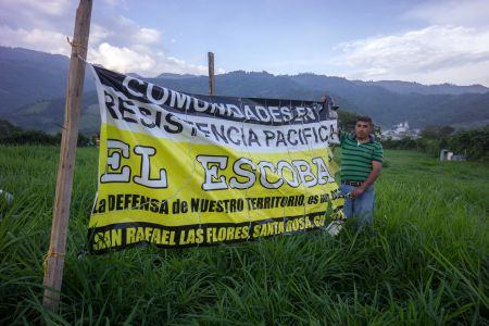 Resistence to industrial encroachment in Guatemala. Author Stephen Law sees similarities to the Maritime situation. (Photo: NISGUA - Network in Solidarity with the People of Guatemala)
