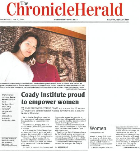 No more bylines or photo credits and the ability to work from home. The Chronicle Herald is now scab-friendly. But the Canadian Freelance Union would rather you didn't do it. [Photo: coady institute]
