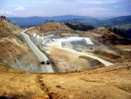 Goldcorp's Marlin Mine in San Miguel Ixtahuacan, Guatemala. [Photo: Jackie McVicar]