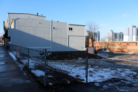 Site of a proposed development on Gottingen Street criticized for offering 'affordable' rents as high as $780 for a bachelor apartment. A recently announced provincial housing strategy will actively support similar developments in the future (Photo: Simon de Vet).