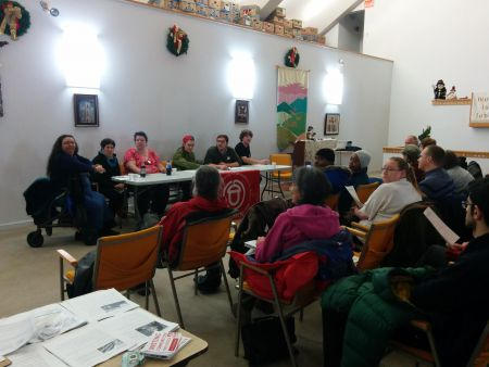 Dozens of people gathered at a town hall meeting to learn about tenant rights in Halifax