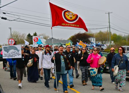 Earlier this year, hundreds descended upon the community of Red Head, New Brunswick, in protest over TransCanada's Energy East pipeline. [Photo: M. Howe]