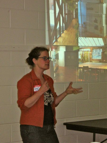 Susanna Fuller presented photos of inspiration from community centres she visited in Toronto (Natascia Lypny photo).
