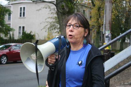 """""""We're talking about the land, we're talking about the water.  The human species is on its way out if we don't take a stand."""" Sherry Pictou, former Chief of the Bear River First Nation"""
