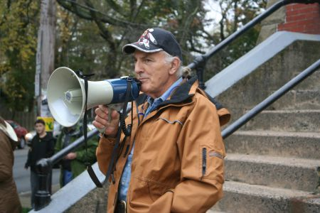 """""""Let's keep our focus on what matters, and that is those treaties, this land, this water."""" Elder Billy Lewis"""