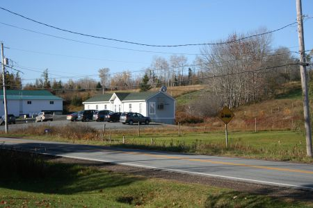 The clinic in Rawdon Hills.  Many people in rural Nova Scotia struggle to make a living.