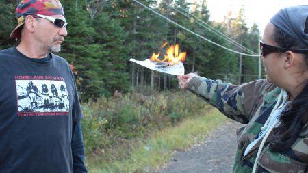 On fire! {Photo: E. Knockwood]