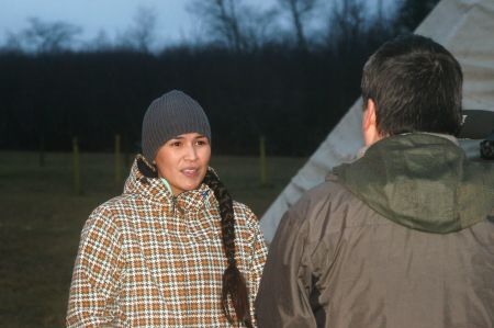 Shelly Young speaks to reporter as she begins four day fast. [Photo: Miles Howe]