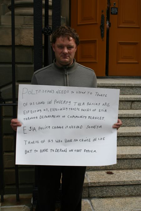 Long-time poverty activist Kendall Worth argues that we need to take poverty issues straight to the decision makers in Province House. Will you join him? Photo Robert Devet