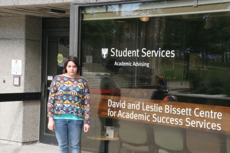 Rachelle McKay, an Anishinaabe student at Dalhousie University, alleges that a Shell Canada grant was misallocated when it went to pay for her summer job. [Photo: Miles Howe]