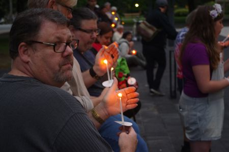 Candle lit at the Halifax Pride International Candlelight Vigil, Monday, July 20, 2015.
