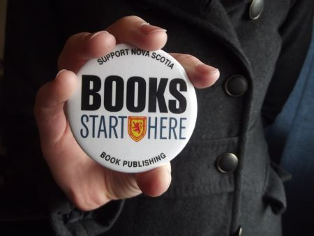The 'Books Start Here' campaign, launched by the Nova Scotia publishing industry, aims to raise awareness and support for a local industry undergoing budgetary realignment [Photo: Katie Ingram]