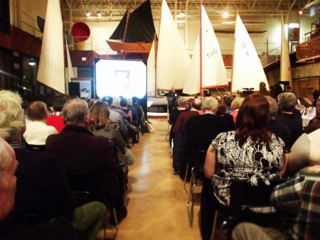 About 150 people packed the Maritime Museum in support of the local Nova Scotia publishing industry [Photo: Katie Ingram]