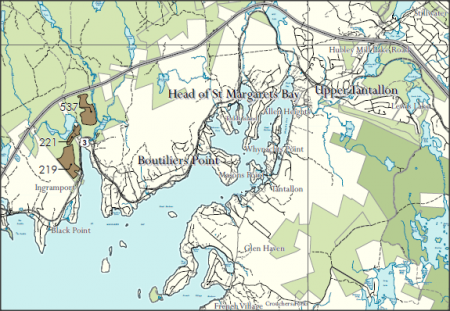 The parcels are located along the river in an area already under stress because of a proposed Highway Connector between the 103 and the No, 3 Highway. Map Ecology Action Centre