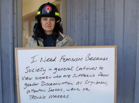 Former firefighter still fighting workplace sexism and misogyny